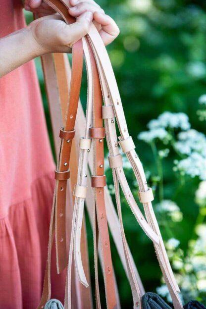 kasvipartkittu nahka eettinen laukku