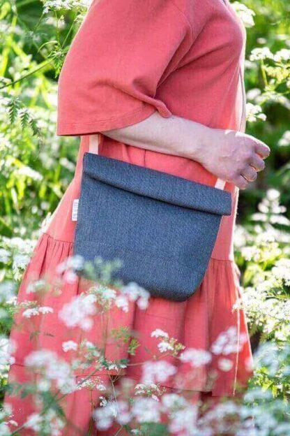 kaunis siro käsilaukku